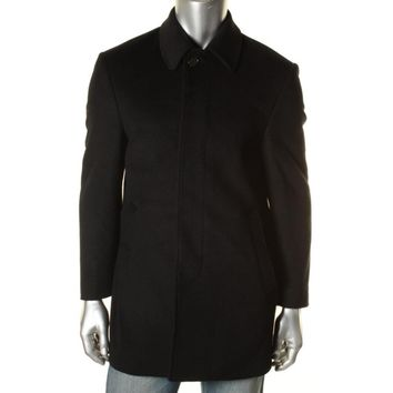 Lauren Ralph Lauren Mens Wool Blend Outerwear Pea Coat