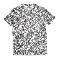 'Black and white swirls doodles' T-Shirts by Savousepate on miPic