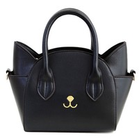 Cute Cat Shape and Solid Color Design Tote Bag For Women