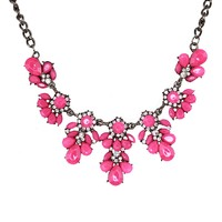 Pink Teardrop Statement Necklace