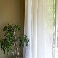 Handwoven Airy Linen Curtain