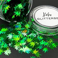 Weed Glitter - Green Holo