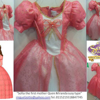 Queen Miranda Sofia the First Once Upon A Princess costume dress cosplay pink dressup presentation quince flower girl pageant XV tutu gown