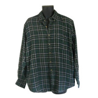 Lumbersexual Green Flannel Shirt 90s Grunge Flannel Shirt Men Flannel Shirt Plaid Flannel Shirt Men Grunge Lumberjack Flannel Men Cotton