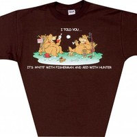 Wine Apparel - Bears With Wine and Fisherman and Hunters T-Shirt