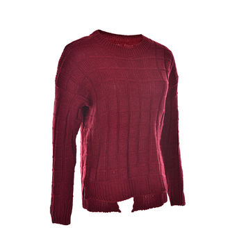 korean style long sleeve casual crop sweater women Red sweaters pullovers slim solid knitted jumpers sweter mujer SM6