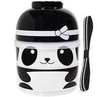 CuteZcute 2-Tier Kids Bento Lunch Box Food Container, Baby Ninja Panda