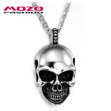 New Hot Sale Fashion Jewelry Cool Skull Chain Men's Stainless Steel Necklaces & Pendants For Men/boys