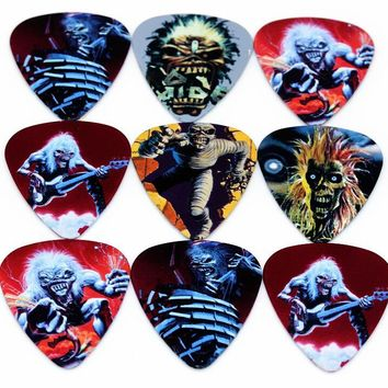 Zonael 10pcs Bass Guitar Picks  Multi Smooth ABS Custom Acoustic Electric Guitarra Cartoon  0.71mm