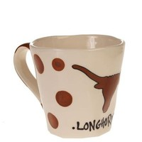 Texas Longhorns White & Orange Polka Dot Wobbly Mug