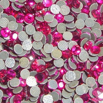 3mm 10ss Bright Fuchsia Pink Hot Fix Rhinestones