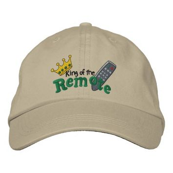 King of Remote Embroidered Baseball Cap