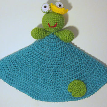 Frog Prince Lovey PDF Crochet Pattern - INSTANT DOWNLOAD