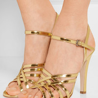 Miu Miu - Metallic leather sandals
