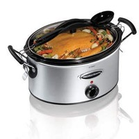 Hamilton Beach 6-Quart Oval Stay Or Go Slow Cooker , Stainless Steel