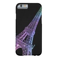 Paris Rainbow Eiffel Tower Black iPhone 6 Case