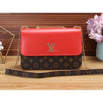 LV Fashion Hot Printed Women's Single Shoulder Bag Red