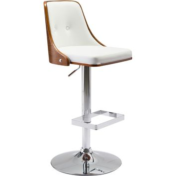 Scooter Bar Chair, White