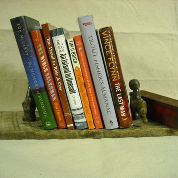 Bookshelf (or coat rack) from brass faucets