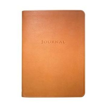 Medium Travel Journal  Traditional Leather -British Tan