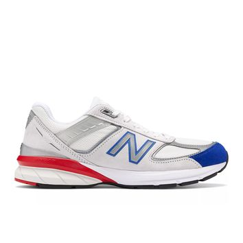 New Balance - 990v5 (M990NB5) - Nimbus Cloud w/ Team Royal & Team Red