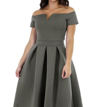 Lalagen Women's Vintage 1950s Party Cocktail Wedding Swing Midi Dress New