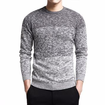 Pullovers Clothing Sweater Men's Long Sleeve Coat Solid Cotton Men O-Neck Knitted Casual Male Tops