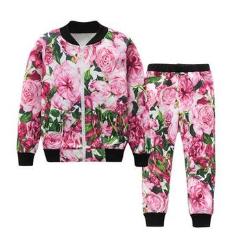 Girls Clothes Long Sleeve Sweatshirts+Pants 2Pcs Kids Clothing Sets