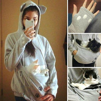 CUTE KANGAROO HOODIE FOR PET LOVERS