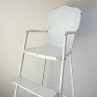 doll chair highchair shabby chic metal display furniture