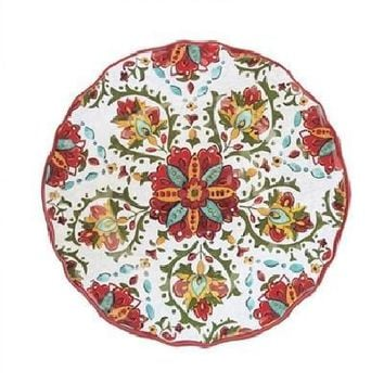 Allegra Red Melamine Outdoor Dinnerware