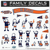 Chicago Bears NFL Family Car Decal Set (Large)