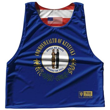 Kentucky State Flag and American Flag Reversible Lacrosse Pinnie