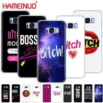 HAMEINUO Bitch mode on pink boos cell phone case cover for Samsung Galaxy S9 S7 edge PLUS S8 S6 S5 S4 S3 MINI