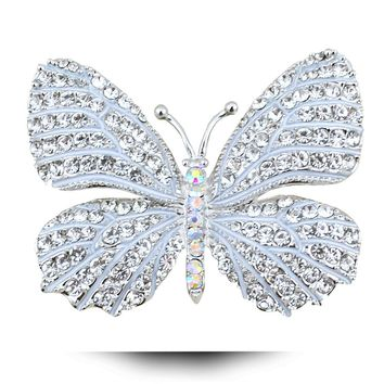 Grace Jun Top Quality Vintage Enamel Butterfly Brooch Beautiful Insect Brooches for Women Party Jewelry Wedding Accessories New