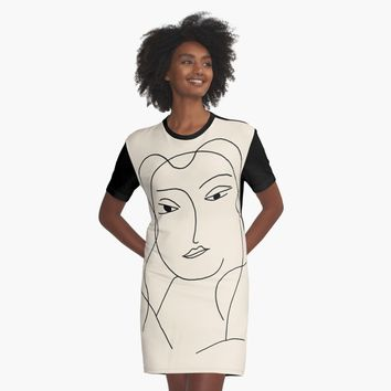 'Matisse Woman 04' Graphic T-Shirt Dress by BillOwenArt
