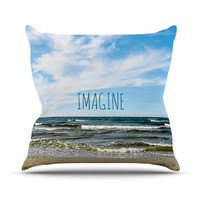 "Iris Lehnhardt ""Imagine"" Beach Sky Throw Pillow"