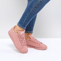 adidas Originals Pink Stan Smith Satin Quilted Sneakers at asos.com