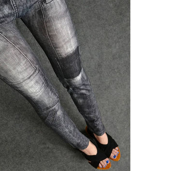 New Fashion Women Fashion Jeggings Stretch Skinny Leggings Tights Leg Wear Pencil Pants Casual Jeans