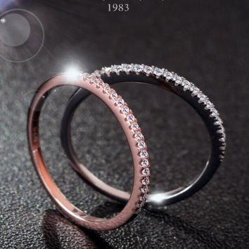 womens classic diamond ring tail rings gift 166