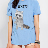 What? Raccoon Triblend Boyfriend Tee