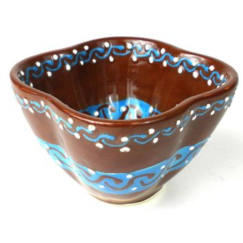 Dip Bowl - Chocolate Mexican Pottery