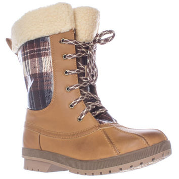 London Fog Swanley Shearling Lined Cold Weather Snow Boots - Navy Quilting