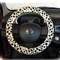 by (CoverWheel) Steering wheel cover cheetah print wheel car accessories leopard fur