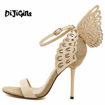 Sophia Webster Butterfly Wings Women High Heels Bowtie Summer Shoes Sandals Woman Poin