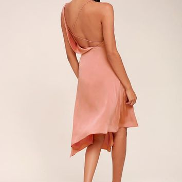 Keepsake Sidelines Blush Pink Midi Dress