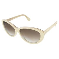 Balenciaga Ivory/Gold Oval sunglasses