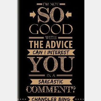 Friends Chandler Sarcastic iPhone 5c Cases | Artist : Siddharth B