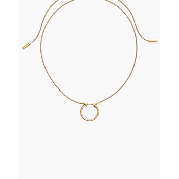Adjustable Ring Choker Necklace : shopmadewell necklaces | Madewell