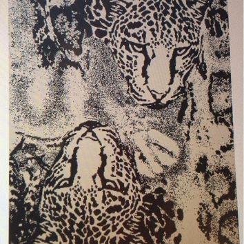 """Wild Tiger"" 40x70 Combed Cotton Beach Towel"